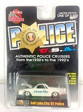 Salt Lake City Utah Police Car LE Diecast Racing Champions 86 Chevy ElCamino NEW