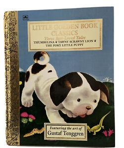 Little Golden Bks 3 Best-Loved Tales Thumbelina Scrawny Lion Poky Little Puppy
