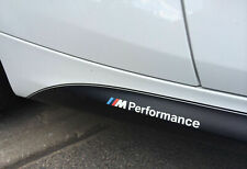 2x BMW M Performance side skirt White decal sticker logo F20 F30 E60 F10 E90 OEM