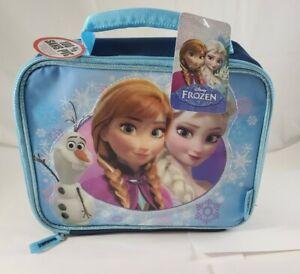 Disney Thermos Frozen Lunch Kit Bag Blue Light Blue Olaf Anna Elsa Lunchbox (B6)