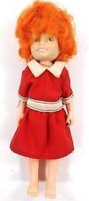 "Doll Orphan Annie Little 1982 Knickerbocker Vintage Toy Red Hair 6"" Red Dress"
