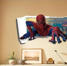 3D Removable Spiderman Kids Wall Stickers Vinyl Art Decal Mural  Home Decor