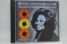 Carol Anderson - Sad Girl  CD Album   RARE