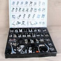 32PCS Sewing Machine Presser Foot Feet Tool Kit Set For Brother Singer DomesticM