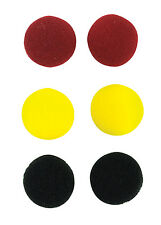 Coloured 18mm Mini Replacement Foam Earphone Red Yellow Black Pads 3 Pairs