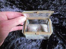 rare boite coffret bijoux bronze verre biseauté restauration empire napoleon art