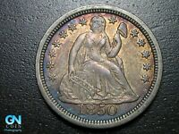 NICE COLOR! 1850 P Seated Liberty Dime --  MAKE US AN OFFER!  #B6089