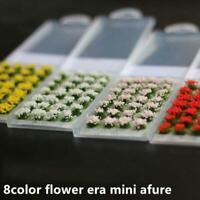 28Pcs Model Scene Simulation Flower Cluster DIY Miniature Landscape Material