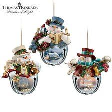 "Thomas Kinkade ""Snow-Bell Holidays"" Ornament Collection - Original Packaging"