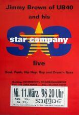 BROWN, JIMMY - UB 40 - 1998 - Konzertplakat - Star Company - Tourposter - Marl