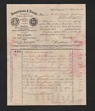 HALLE/SAALE, Rechnung 1901, Hempelmann & Krause Bauartikel