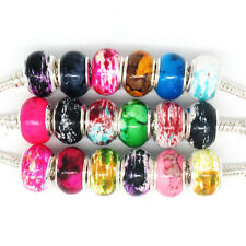 Wholesale 100Pcs Mix Style Acrylic Charm Beads Fit European Bracelet Jewelry F21