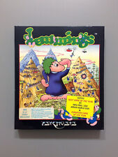 "Lemmings Vintage PC Game IBM 5.25"" Big Box Original +Holiday RARE 1991 Psygnosis"