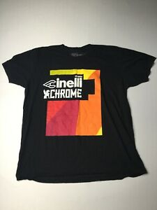 TEAM CINELLI X CHROME Cycling T Shirt Chrome Branded Tee X-Large HTF * Sports