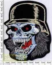 = SKULL - embroidery patch, aufnäher, naszywka-wprasowanka ♫  slayer   CZASZKA