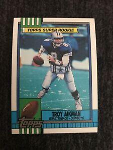 1990 Topps Troy Aikman #482 Dallas Cowboys Mint-gem Mint. Well Centered, Sharp