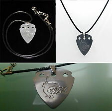 pua de guitarra colgante collar namaup rock man aluminio inoxidable heavy metal
