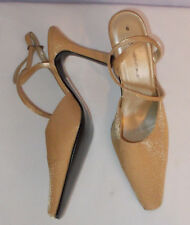 "New Ladies E Essentials Gold slingback 3.5"" heel  Shoes UK 6 RRP £19"