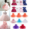 Baby Flower Girl Dress Toddler Party Pageant Wedding Birthday Princess Tutu Gown