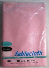 NEW Pink Rayon/Laminated 52 x 70 Delmar Style Tablecloth By Berkeley
