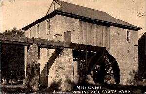 RP Postcard Mill Wheel at Spring Mill State Park in Mitchell, Indiana~138110