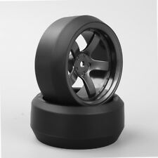 4PCS 1:10 Drift 3 Degree Tyre Tires 5 Spoke Wheel Rim For HPI HSP RC Car D5M