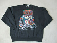 VINTAGE Miami Dolphins Sweater Adult Extra Large Black Taz Tasmanian Devil 90s *