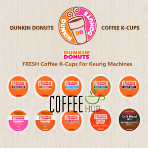 Dunkin Donuts Coffee K Cups 6 16 18 24 Count Pods Capsules lot Mix SEALED KEURIG