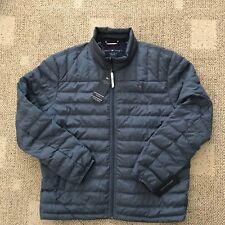 Tommy Hilfiger Mens Natural Down Fill Jacket Coat Blue...