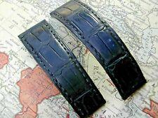 ROLEX DAYTONA 20mm CROCODILE LEATHER STRAP.  REF. B6351, GENUINE VINTAGE ITEM.