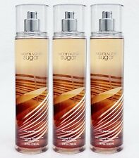 3 Bath & Body Works WARM VANILLA SUGAR Fine Fragrance Body Mist Spray