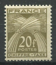 France 1943 Yv. 77 Neuf * 100% timbre-taxe 20 f, germes