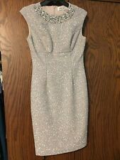 Eliza J Embellished Sparkle Knit Sheath Dress (size 4)
