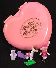Polly Pocket Mini 💚 1989 Heidis Alpine Chalet winter herz schlitten christmas 1