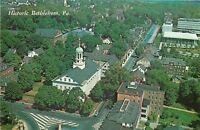 Bethleham~Northhampton County Pennsylvania~Birdseye Church Street~1970 Postcard