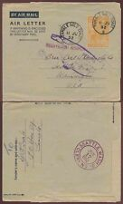 Gold Coast Tamale Aerogramme Kg6th 6d from Stamp Dealer Beale to Seattle.Rebuts