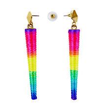 CONO Neon Orecchini Discoteca Costume 80 S 1980 S FLUORESCENTE gioielli Gay Pride
