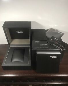 RADO Empty Luxury Presentation Watch Display Box Completed with Booklets & Cards