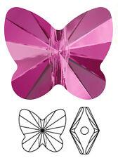 Un cristal swarovski papillon perle/pendentif 5754, rose fuchsia, 10 mm