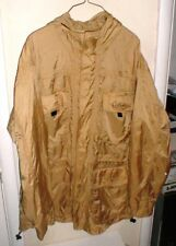 Cabela's Outdoor Gear 5-Pocket Hooded Rain Jacket with Mesh Lining GOLD sz-Med
