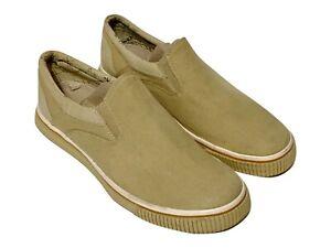 Tommy Bahama Men's Live Bait Canvas Light Tan Beige Slip on Shoes Size M'S13
