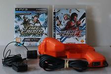 PS3 - Time Crisis 4 + Razing Storm + G-con + Sensors - PAL - UK/EUROPE/AUD/NZ