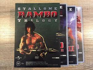 Rambo Trilogy Box Set : First Blood, First Blood II, Rambo III.
