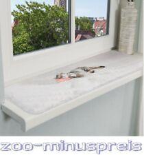 Katzen Fenster Kuschelbrett, 90 x 28 cm grau mit Motiv