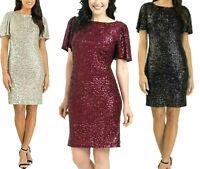 M BLACK Hilary Radley Ladies/' Sequin Dress