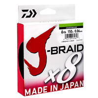 Daiwa J-Braid X8 150m Braided Line Mainline NEW *All Breaking Strains*