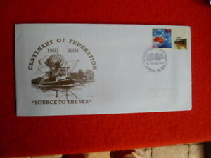 2001 SOURCE TO THE SEA MORGAN CENT. OF FEDERATION  P-STAMP  FIRST DAY COVER