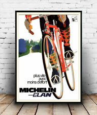 Michelin Elan : Reproduction Vintage Cycling advert, poster, Wall art.