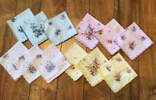 Lot Of 12 Women'S Floral Handkerchiefs 12x12 Never Used