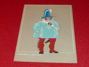 ART DECO COSTUMES RAYMOND FOST OFFENBACH GRAND DUCHESS 1948 ORIGINAL GOUACHE